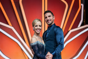Benjamin Piwko and Isabel Edvardsson pose on stage after the 1st show of the 12th season of the television competition 'Let's Dance' on March 22, 2019 in Cologne, Germany.