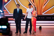 """Daniel Hartwich, Benjamin Piwko and Isabel Edvardsson during the 2nd show of the 12th season of the television competition """"Let's Dance"""" on March 29, 2019 in Cologne, Germany."""