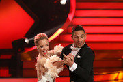 """Benjamin Piwko and Isabel Edvardsson perform during the 3rd show of the 12th season of the television competition """"Let's Dance"""" on April 05, 2019 in Cologne, Germany."""