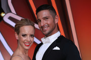 """Benjamin Piwko and Isabel Edvardsson pose after the 3rd show of the 12th season of the television competition """"Let's Dance"""" on April 05, 2019 in Cologne, Germany."""