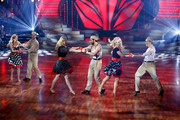 (L-R) Carmen Geiss,Christian Polanc,Larissa Marolt, Massimo Sinato, Isabel Edvardsson and Alexander Klaws perform on stage during the 5th show of 'Let's Dance' on RTL at Coloneum on May 2, 2014 in Cologne, Germany.