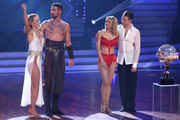 "Benjamin Piwko, Isabel Edvardsson, Ella Endlich and Valentin Lusin are seen on stage during the finals of the 12th season of the television competition ""Let's Dance"" on June 14, 2019 in Cologne, Germany."