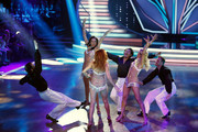 Willi Gabalier, Tanja Szewczenko, Erich Klann, Lilly Becker, Alexander Leipolt and Oana Nechiti perform during the 5th show of 'Let's Dance' on RTL at Coloneum on May 2, 2014 in Cologne, Germany.