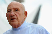 Sir Stirling Moss at Silverstone Circuit on May 31, 2013 in Northampton, England.