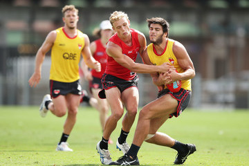 Lewis Melican Sydney Swans Training Session