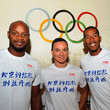 Asafa Powel Li Ning visits the Olympic Museum in Lausanne