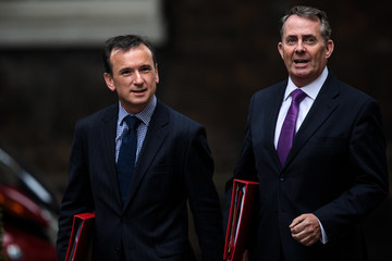 Liam Fox Government Ministers Attend Cabinet After Whitsun Break