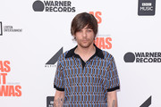 """Louis Tomlinson attends the World Premiere of """"Liam Gallagher: As It Was"""" at Alexandra Palace on June 06, 2019 in London, England."""