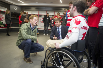 Liam O'Reilly Prince Harry Meets London Marathon Runners Raising Money For RFU's Injured Players Foundation