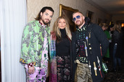 Adam Lambert, Fergie and Robin Anton attend the Libertine Fall 2019 Runway Show at Ebell of Los Angeles on April 26, 2019 in Los Angeles, California.