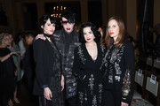 Lindsay Usich, Marilyn Manson, Dita Von Teese and Liz Goldwyn attend the Libertine Fall 2019 Runway Show at Ebell of Los Angeles on April 26, 2019 in Los Angeles, California.