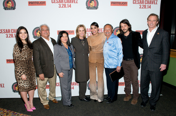 'Cesar Chavez' Screening in NYC [cesar chavez,paul chavez,america ferrera,kerry kennedy,robert f. kennedy jr.,rosario dawson,arturo rodriguez,special screening,l-r,event,team,premiere,tourism,employment,management,businessperson,screening]
