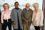 Gayene Gould; Alison Steadman, Jane Horrocks and Mike Leigh attend the 'Life Is Sweet' Blu-ray/ DVD launch and Q&A at BFI Southbank on September 28, 2017 in London, England.