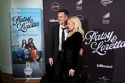 "Brian Gallagher and Megan Hilty attend Lifetime Presents A Special Screening And Reception for ""Patsy & Loretta"" at Carnegie Hall on October 07, 2019 in New York City."