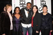 """President & CEO, AETN Abbe Raven, Sherri Shepherd, Malcolm-Jamal Warner, EVP Entertainment Lifetime JoAnn Alfano and CEO and President Lifetime Andrea Wong attend the Launch Party for new sitcom """"Sherri"""" at the Empire Hotel on October 5, 2009 in New York City."""