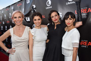 "Creator/producer Marti Noxon, actress Shiri Appleby, creator/producer Sarah Gertrude Shapiro and actress Constance Zimmer attend Lifetime and Us Weekly's premiere party for ""UnReal"" at SIXTY Beverly Hills on May 20, 2015 in Beverly Hills, California."