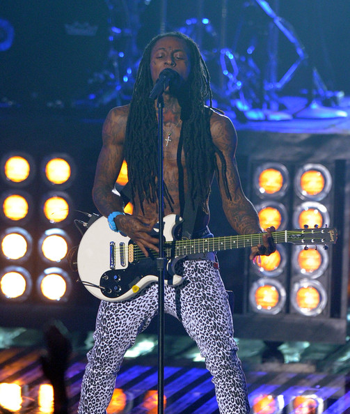 Lil Wayne Rapper Lil Wayne performs onstage during the 2011 MTV Video Music Awards at Nokia Theatre L.A. LIVE on August 28, 2011 in Los Angeles, California.