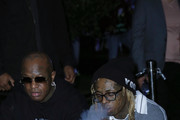 """Mack Maine and Lil Wayne attends Lil Wayne's """"Funeral"""" album release party on February 01, 2020 in Miami, Florida"""