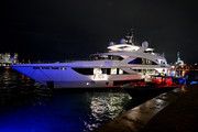 """A view of a yacht during Lil Wayne's """"Funeral"""" album release party on February 01, 2020 in Miami, Florida."""
