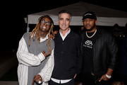 """Lil Wayne, Avery Lipman, Mack Maine attend Lil Wayne's """"Funeral"""" album release party on February 01, 2020 in Miami, Florida"""