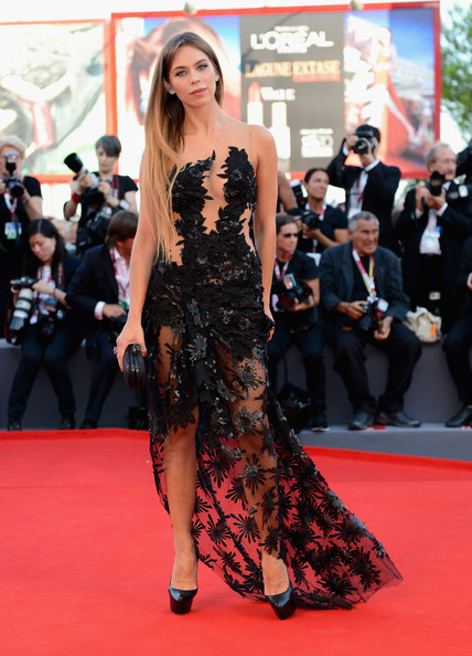 'Gravity' Premieres in Venice [red carpet,fashion model,carpet,clothing,dress,shoulder,premiere,flooring,fashion,gown,palazzo del cinema,venice,italy,opening ceremony and gravity premiere - the 70th venice international film festival,70th venice international film festival,liliana matthaeus]