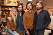 White's Mercantile owner Holly Williams, Nathan Followill, Jared Followill and Caleb Followill attend the Lily Aldridge And Levi's Made And Crafted Celebrate Denim In Nashville on October 18, 2018 in Nashville, Tennessee.