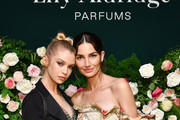 Stella Maxwell and Lily Aldridge pose for a photo during the Lily Aldridge parfums launch event at The Bowery Terrace at the Bowery Hotel on September 08, 2019 in New York City.