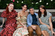 (L-R) Karen Elson, Lily Aldridge, Thakoon Panichgul and Tabitha Simmons pose for a photo during the Lily Aldridge parfums launch event at The Bowery Terrace at the Bowery Hotel on September 08, 2019 in New York City.