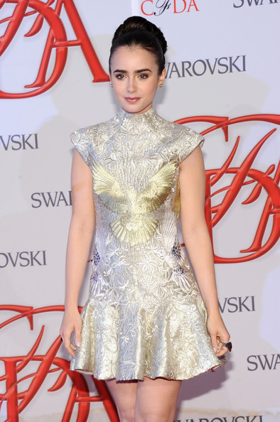 Lily Collins - 2012 CFDA Fashion Awards - Arrivals