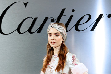 Lily Collins Cartier Celebrates The Launch Of Santos de Cartier Watch - Photocall