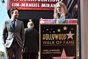"""Lin-Manuel Miranda (L) and """"Weird Al"""" Yankovic attend the ceremony honoring Lin-Manuel Miranda with a Star on the Hollywood Walk of Fame on November 30, 2018 in Hollywood, California."""