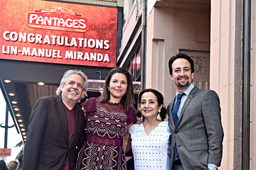 Lin-manuel Miranda Vanessa Nadal Lin-Manuel Miranda Is Honored With A Star On The Hollywood Walk Of Fame
