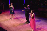 (L-R) Ashley Brown, James Monroe Iglehart and Lindsay Mendez perform onstage at the Lincoln Center Hall Of Fame Gala at the Alice Tully Hall on June 6, 2017 in New York City.