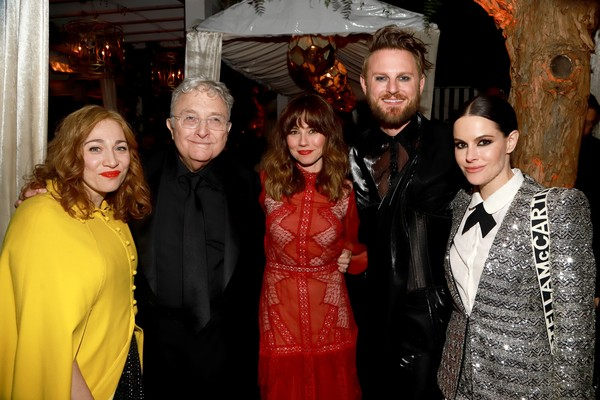 2020 Netflix Oscar After Party [fashion,event,fashion design,fun,premiere,haute couture,smile,oscar,regina spektor,bobby berk,emily hampshire,randy newman,linda cardellini,l-r,west hollywood,netflix,party,emily hampshire,schitts creek,getty images,stock photography,photography,photograph,academy awards,image,royalty-free]