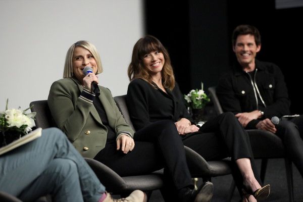 'Dead To Me' SAG NOM COMM [dead to me sag nom,social group,sitting,event,lady,conversation,fashion,fun,interaction,photography,plant,liz feldman,linda cardellini,james marsden,comm,california,los angeles,netflix home theater]