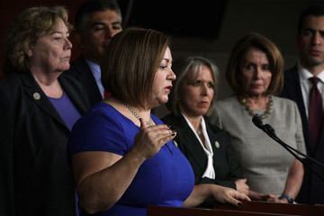 Linda Sanchez Pelosi, House Democrats Hold Press Conference After Meeting With ICE Director