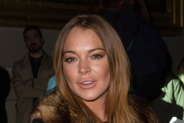 Lindsay Lohan Day 2 - Front Row - LFW FW15