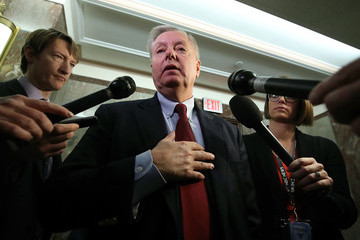 Lindsey Graham Lawmakers On Capitol Hill Continue To Work Towards Immigration Deal