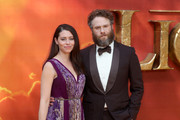 """Lauren Miller and Seth Rogen attends """"The Lion King"""" European Premiere at Leicester Square on July 14, 2019 in London, England."""