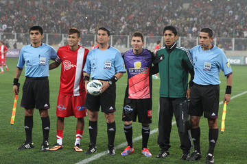 Lionel Messi Neymar Messi & Friends v The Rest of the World XI
