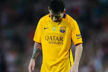 Lionel Messi Athletic Club v Barcelona - Spanish Super Cup: First Leg