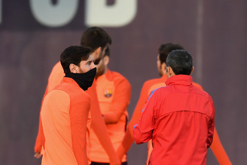 Lionel Messi Barcelona Training And Press Conference