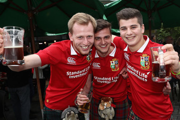 Lions fans New Zealand Provincial Barbarians v British & Irish Lions