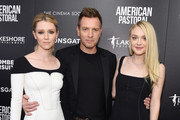 """(L-R) Valorie Curry, Ewan McGregor and Dakota Fanning attend a screening of """"American Pastoral"""" hosted by Lionsgate, Lakeshore Entertainment and Bloomberg Pursuits at Museum of Modern Art on October 19, 2016 in New York City."""