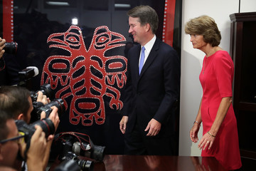 Lisa Murkowski Supreme Court Justice Nominee Kavanaugh Meets With Senators On Capitol Hill