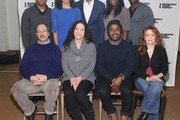 """(Top row L-R) Actors Chris Myers, Carra Patterson, Carl Hendrick Louis, Crystal Lucas-Perry and Maurice Jones (bottom row) Gilbert Cruz, Giovanna Sardelli, Jeff Augustin and Deirdre O'Connell attend """"Little Children Of God"""" Cast Photo Call at Roundabout Theatre Company Rehearsal Hall on January 8, 2015 in New York City."""