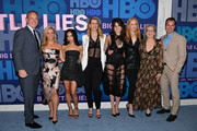 """(L-R) Bob Greenblatt, Reese Witherspoon, Zoe Kravitz, Laura Dern, Shailene Woodley, Nicole Kidman, Meryl Streep and Casey Bloys attend the """"Big Little Lies"""" Season 2 Premiere at Jazz at Lincoln Center on May 29, 2019 in New York City."""