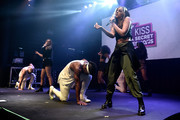 (EXCLUSIVE COVERAGE)  Perrie Edwards, Leigh-Anne Pinnock, Jesy Nelson and Jade Thirlwall from Little Mix perform for KISS FM at The KISS Secret Sessions gig on July 10, 2015 in London, England.