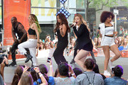 """(L-R)  Jade Thirlwall, Jesy Nelson, Perrie Edwards and Leigh-Anne Pinnock of """"Little Mix"""" perform on NBC's """"Today"""" show on June 17, 2014 in New York, New York."""
