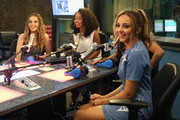 """Perrie Edwards, Leigh-Anne Pinnock and Jade Thirlwall of Little Mix visit """"The Elvis Duran Z100 Morning Show"""" at Z100 Studio on August 20, 2015 in New York City."""